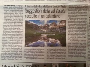 Articolo dedicato al calendario fotografico di Enrico Testa sulla Val Varaita