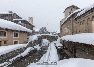 chianale e la neve
