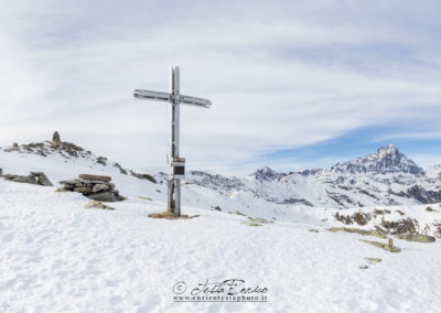 La croce di vetta di Garitta Nuova