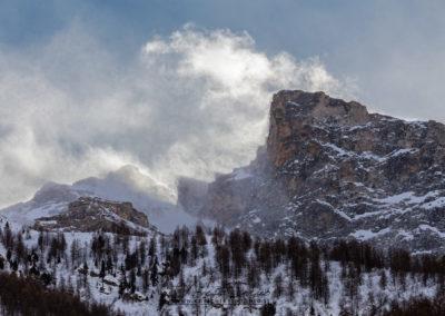 Tormenta di neve sul Pelvo d'Elva