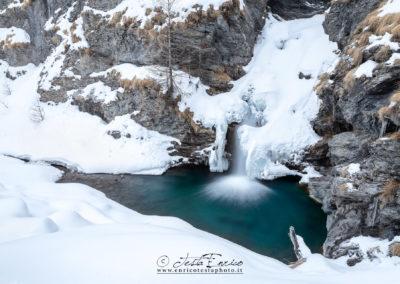 La cascata a monte di Chianale