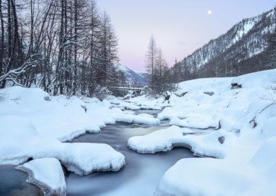 Il Varaita in inverno