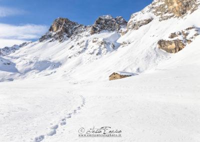 Il Pelvo di Chiausis in inverno