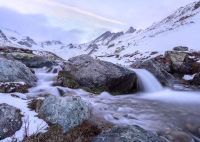 Le prime nevicate d'autunno verso il Colle dell'Agnello