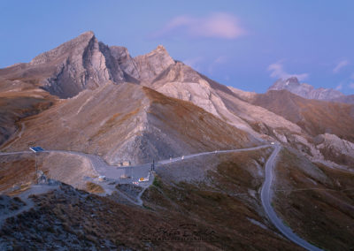 I colori del tramonto sul Colle dell'Agnello, Pan di Zucchero, Pic d'Asti e Monviso
