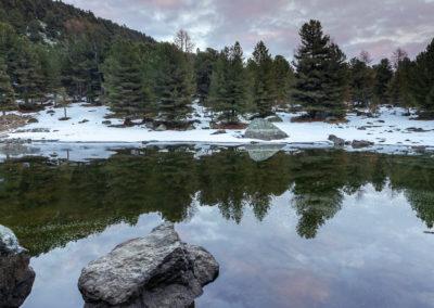 Nell'Alevé abbiamo due laghi, il Bagnour e il Secco